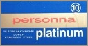 Personna Platinum Chrome (Red Personna Red IP's) Double Edge Razor Blades