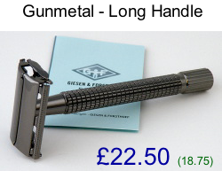 TIMOR Gunmetal Long Handle TTO Safety Razor