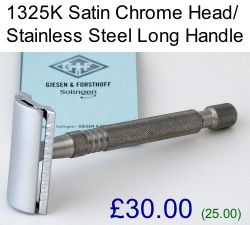 Timor 1325K Chrome/Stainless Steel Safety Razor